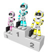 Awards Ceremony of Business Robot.  Create 3D Humanoid Robot Ser