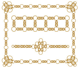 chains of gold rings