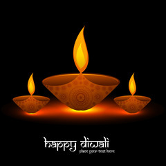 Diwali festival bright colorful religious background vector