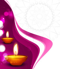 vector beautiful diwali festival colorful wave celebration card