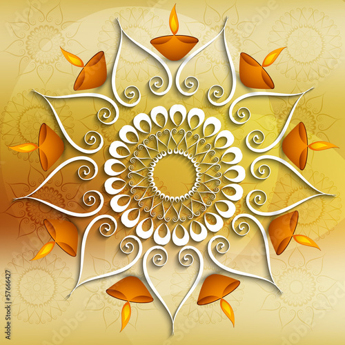 Colorful decoration Diwali diya celebration background