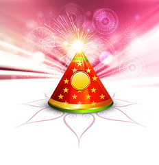 Beautiful diwali cracker colorful illustration background