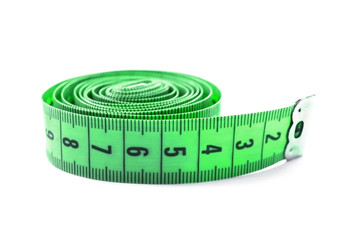 Green measuring tape