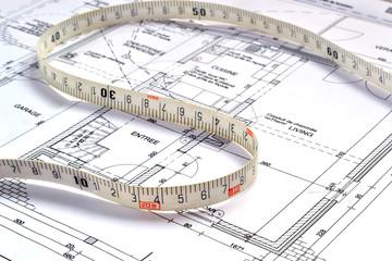 Plan et mesure d'intérieur