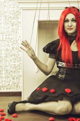 Redhead puppet