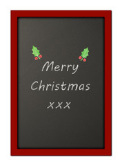 Chalkboard with Merry Christmas message