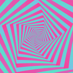 Spiral in Pink and Blue