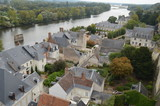 Rooftop View of Traditional Houses in Loire Valley, France