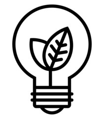Ecology light bulb vector icon