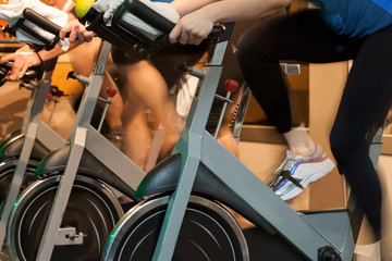 Spinning in the gym