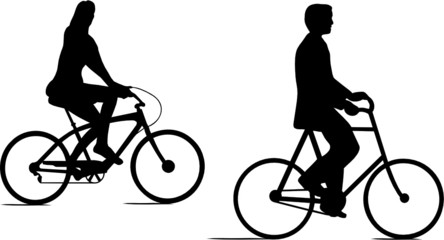 COUPLE J D CYCLISTES