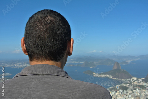 Tourist taking a look on Rio @ Brazil