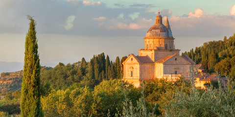 San Biagio church basked in the evening sun
