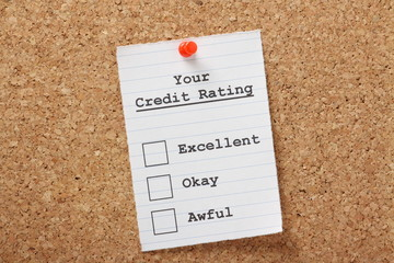 Your Credit Rating Tick Boxes