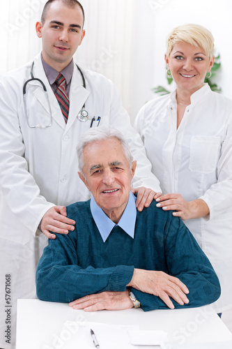 Medical team with patient