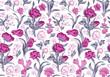 Light romantic seamless vector vintage floral pattern