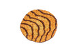 top view chocolate stripe cookie