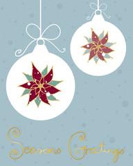 snowy pointsettia
