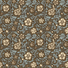 Vintage classic ornamental seamless vector pattern