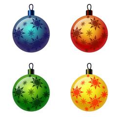 Set of Christmas balls. Christbaumschmuck, Weihnachtskugel