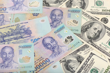 Vietnam Dongs and the US Dollars
