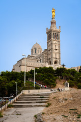 Basilique Notre dame de la garde at Marseille view from pilgrima