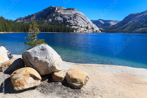 Yosemite National Park, View of Lake Tenaya (Tioga Pass), Calif
