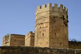 Towers of the castle of Alcala, Andalusia, Spain