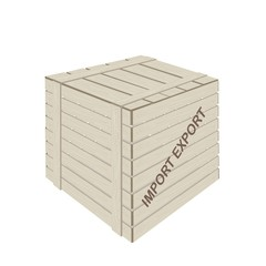 A Wooden Cargo Box for Freight Transportation
