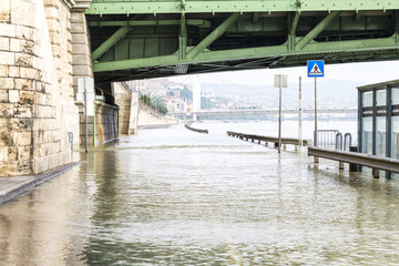 Flood under the Freedom Bridge