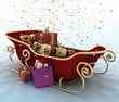 Christmas Santa's sleigh with presents