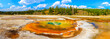 Leinwandbild Motiv Chromatic Pool Panorama, Yellowstone National Park, Upper Geyser