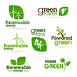 Bio - Ecology - Green - Energy icon set