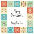 Christmas card with retro snowflakes
