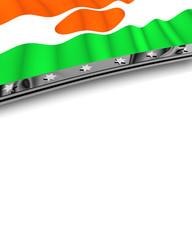Designelement Flagge Niger