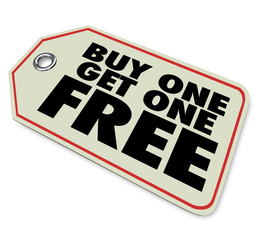 Buy One Get Free Price Tag Sale Special Promotion