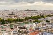 Paris skyline with Seine