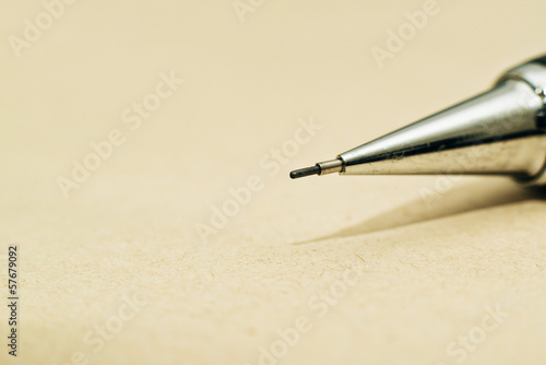 Tip of sharp mechanical pencil