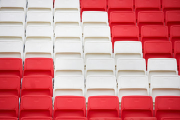 chairs in the stadium