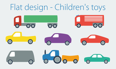 Children's toy in flat design