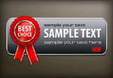 Red award banner with label best choice
