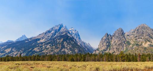 Grand Teton National Park Panorama of Mountain Range, Wyoming
