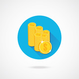 Vector Gold Coins Icon