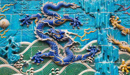 Dragon sculpture. Beihai park, Beijing, China