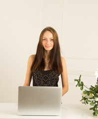 Secretary girl at the reception