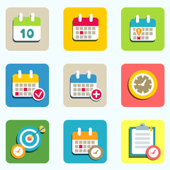 calendar and event icons
