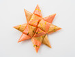 Orange gift star bows with ribbons