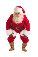 Happy Christmas Santa Claus with a funky dance pose