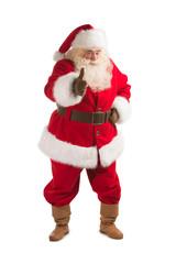 Happy Christmas Santa Claus showing thumb up