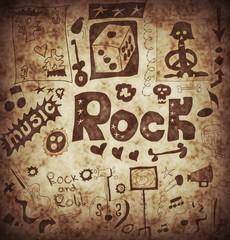 Doodle rock music background